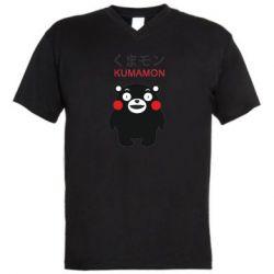 Чоловіча футболка з V-подібним вирізом Kumamon