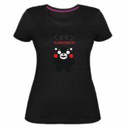 Жіноча стрейчева футболка Kumamon