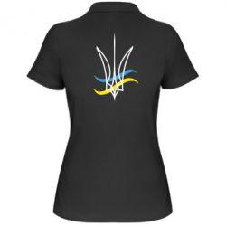 Женская футболка поло Кумедний герб України - FatLine