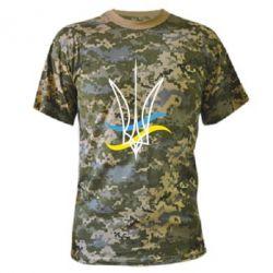 Камуфляжная футболка Кумедний герб України - FatLine