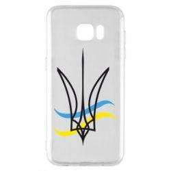 Чохол для Samsung S7 EDGE Кумедний герб України