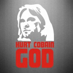 Наклейка Kurt Cobain GOD - FatLine