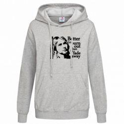 Женская толстовка Kurt Cobain - FatLine