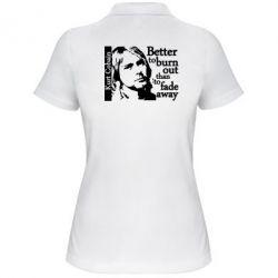 Женская футболка поло Kurt Cobain - FatLine