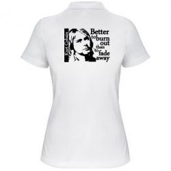 Жіноча футболка поло Kurt Cobain - FatLine