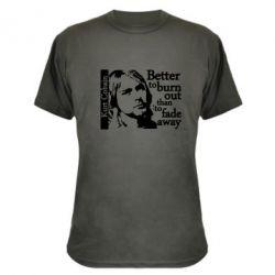 Камуфляжная футболка Kurt Cobain - FatLine