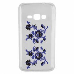 Чехол для Samsung J1 2016 Квітковий орнамент - FatLine