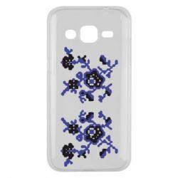 Чехол для Samsung J2 2015 Квітковий орнамент - FatLine