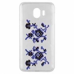 Чехол для Samsung J4 Квітковий орнамент - FatLine