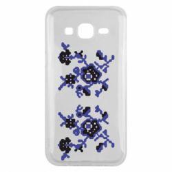 Чехол для Samsung J5 2015 Квітковий орнамент - FatLine