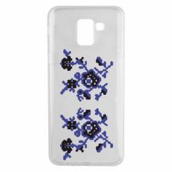 Чехол для Samsung J6 Квітковий орнамент - FatLine