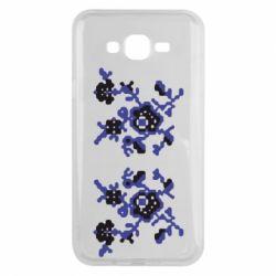 Чехол для Samsung J7 2015 Квітковий орнамент - FatLine
