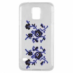 Чехол для Samsung S5 Квітковий орнамент - FatLine