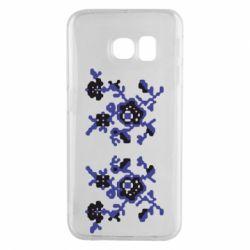 Чехол для Samsung S6 EDGE Квітковий орнамент - FatLine