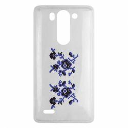 Чехол для LG G3 mini/G3s Квітковий орнамент - FatLine
