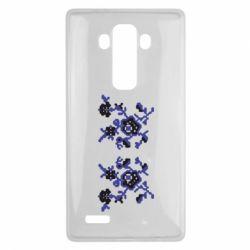 Чехол для LG G4 Квітковий орнамент - FatLine