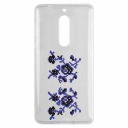 Чехол для Nokia 5 Квітковий орнамент - FatLine