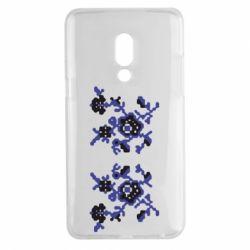 Чехол для Meizu 15 Plus Квітковий орнамент - FatLine