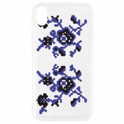Чехол для iPhone XR Квітковий орнамент - FatLine