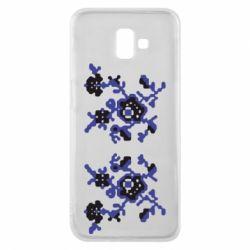 Чехол для Samsung J6 Plus 2018 Квітковий орнамент - FatLine