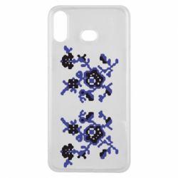 Чехол для Samsung A6s Квітковий орнамент - FatLine