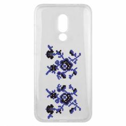 Чехол для Meizu 16x Квітковий орнамент - FatLine