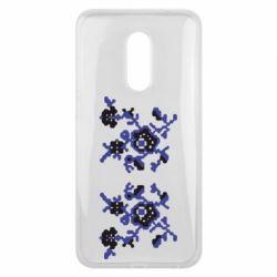 Чехол для Meizu 16 plus Квітковий орнамент - FatLine