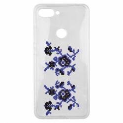 Чехол для Xiaomi Mi8 Lite Квітковий орнамент - FatLine