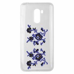 Чехол для Xiaomi Pocophone F1 Квітковий орнамент - FatLine