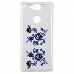 Чехол для Sony Xperia XA2 Plus Квітковий орнамент - FatLine
