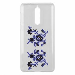 Чехол для Nokia 8 Квітковий орнамент - FatLine