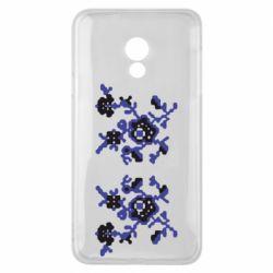 Чехол для Meizu 15 Lite Квітковий орнамент - FatLine