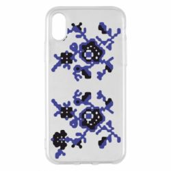 Чехол для iPhone X Квітковий орнамент - FatLine