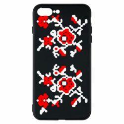 Чехол для iPhone 8 Plus Квітковий орнамент - FatLine