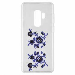 Чехол для Samsung S9+ Квітковий орнамент - FatLine