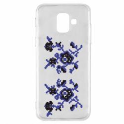 Чехол для Samsung A6 2018 Квітковий орнамент - FatLine