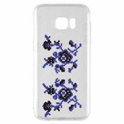 Чехол для Samsung S7 EDGE Квітковий орнамент - FatLine