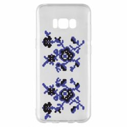 Чехол для Samsung S8+ Квітковий орнамент - FatLine