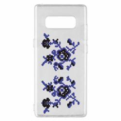 Чехол для Samsung Note 8 Квітковий орнамент - FatLine