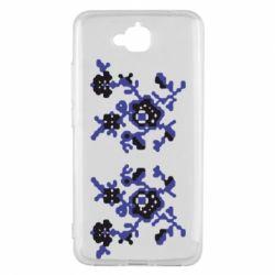 Чехол для Huawei Y6 Pro Квітковий орнамент - FatLine