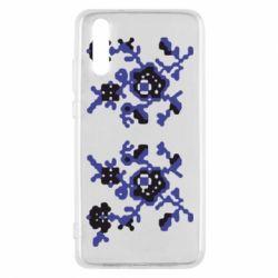 Чехол для Huawei P20 Квітковий орнамент - FatLine