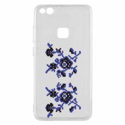 Чехол для Huawei P10 Lite Квітковий орнамент - FatLine