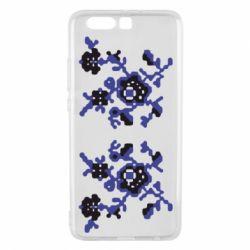 Чехол для Huawei P10 Plus Квітковий орнамент - FatLine