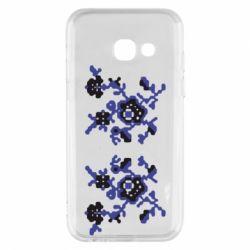 Чехол для Samsung A3 2017 Квітковий орнамент - FatLine