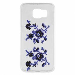 Чехол для Samsung S6 Квітковий орнамент - FatLine