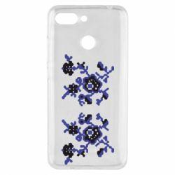 Чехол для Xiaomi Redmi 6 Квітковий орнамент - FatLine