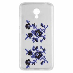 Чехол для Meizu M5c Квітковий орнамент - FatLine
