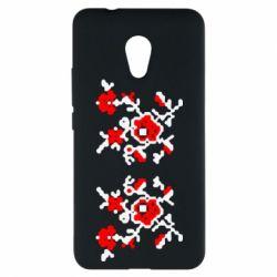 Чехол для Meizu M5s Квітковий орнамент - FatLine