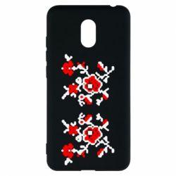 Чехол для Meizu M6 Квітковий орнамент - FatLine
