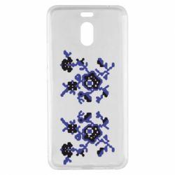 Чехол для Meizu M6 Note Квітковий орнамент - FatLine